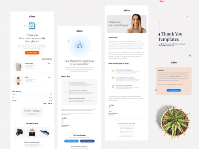 Thank you Pages - Email Template email template order email cart page order summary thank you email email thanks page thankyou receipt email receipt