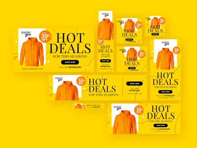 Retail Web Ad Banner product promotion uidesign website graphic sem google adwords google ad banner ads advertising marketing web ad banner retail