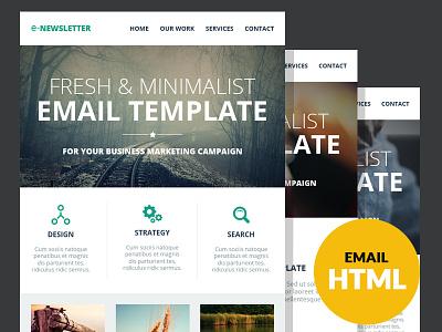 E-Newsletter - Multipurpose Email Template web marketing campaignmonitor creative e-newsletter email email template flat mailchimp marketing modern responsive