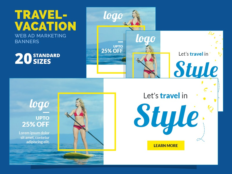 Travel Promotion Banners Editing Banners