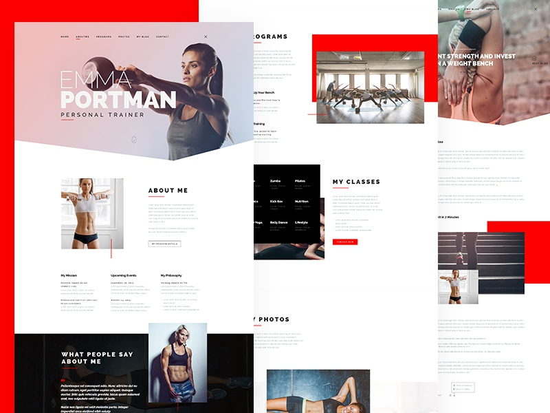 It'sMe - Creative Portfolio PSD Template landingpage gym creative fitness trainer personal webdesign minimal onepage portfolio website fitness