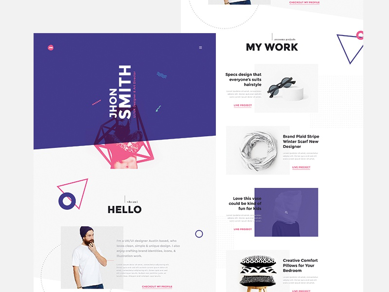 creative portfolio  u0026 resume  cv template by webduckdesign