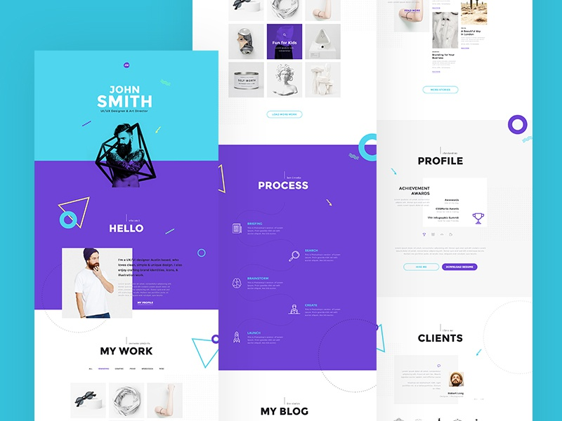 Me - Creative Portfolio & Resume / CV PSD Template psd portoflio onepage webpage photographer homepage landing website freelancer designer cv resume