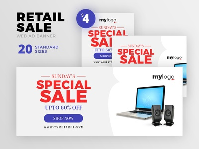 Retail Sale Web Ad Banner discount offer sale google adsense google ad banner website banners marketing banner retail banner web ad banners ad banner ad