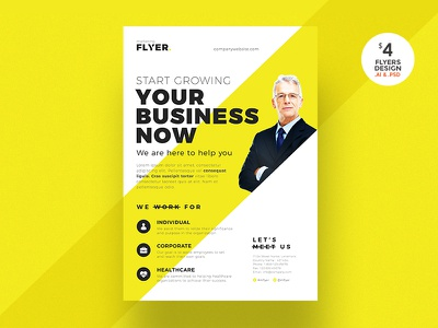 Corporate Flyer yellow clean professional flyer cmyk psd pamphlet business flyer flyer template print ready flyer corporate flyer