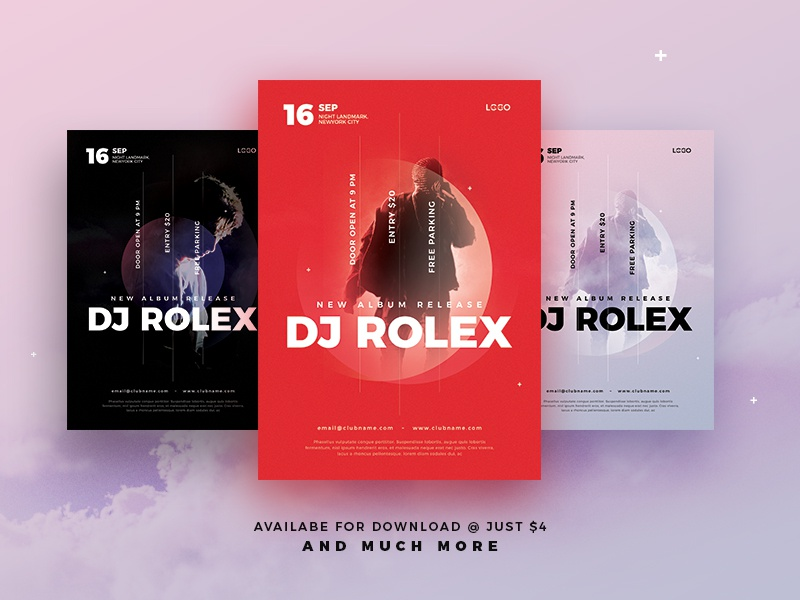 DJ Flyer / Pamphlet Template