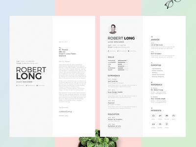 Resume / CV creative clean resume design portofolio psd word resume curriculum vitae cv resume