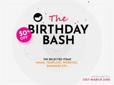 Birthday Offer - Webduck celebration birthday template psd banner discount offer