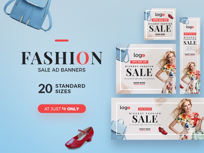 Fashion Sale Ad Banners clothing banner fashion clean ad banner marketing retail banner advertising google ads banners