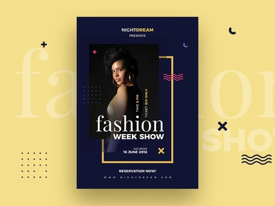 Fashion Flyer pamphlet vector psd template graphic flyers club fashion flyer black night agency