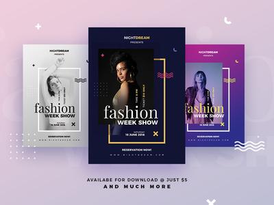 Fashion Flyer/Poster beauty dance agency nightclub dj graphic design print design poster fashion