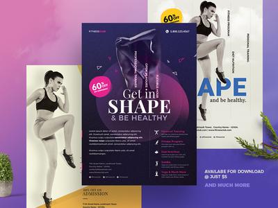 Fitness Gym Flyer Template cardio health gym fitness personal development body building yoga sports body print design print flyer gym flyer fitness flyer