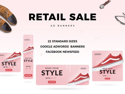 Retail Sale Web Ad Banners