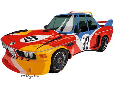 BMW Calder illustration car alexandercalder calder