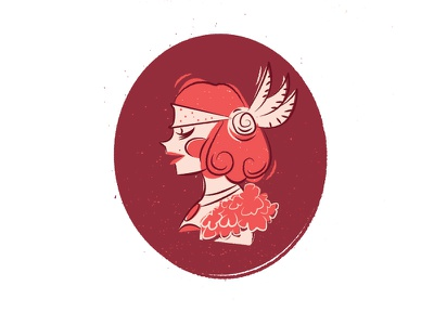 1920's Mod Portrait gatsby era. timeless classic girl portrait deco flapper rose 1920s vintage mod