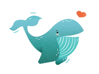 Whale Love sea creature animal fish humpback texture heart blue ocean whale love under the sea whale