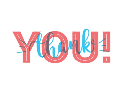 Thankyou script vintage texture fonts overlay typography thank you blue red spot