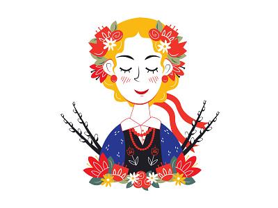 Smigus Dyngus  flowers culture wycinanki dyngus day easter monday floral folk art poland polska dyngus
