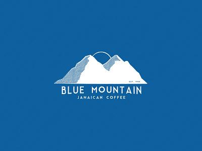 Blue Mountain coffee blue mountain country icon logo jamaica mountain blue