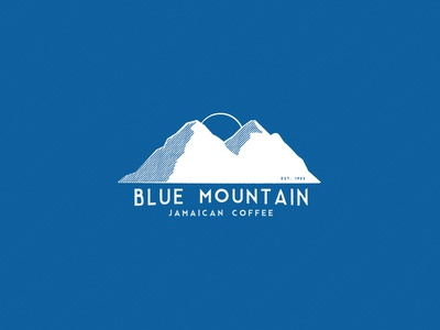 Blue Mountain coffee blue mountain country icon logo jamaica mountain blue