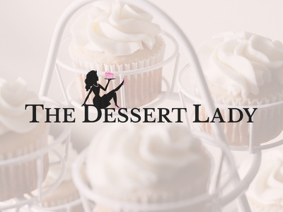 The Dessert Lady vintage classic sassy sweets bakery cake cupcakes dessert lady dessert branding logo