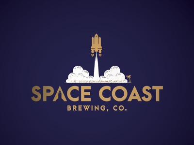 Space Coast Brewery, Co. the challenger launch pad space hops beer florida count down shuttle brewery space coast