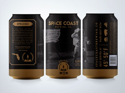 Apollo Ale florida space shuttle astronaut stars space space coast nasa beer packaging packaging brewery ale apollo