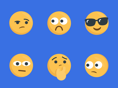 Emojis character animation illustration vector motion graphics animation ae 2d after effects
