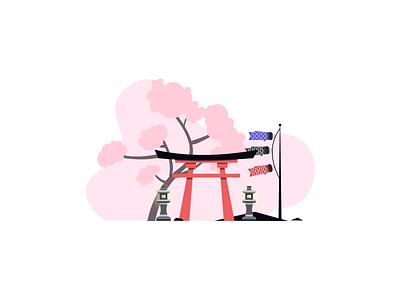 Japan japan vector art minimal illustration graphic design design