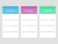 Newsletter Signup Menu
