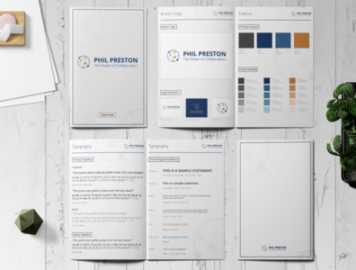 Brand Guide for Phil Preston branding logo design