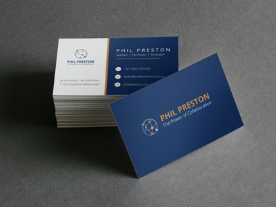 Business Card for Phil Preston business card stationery logo design branding