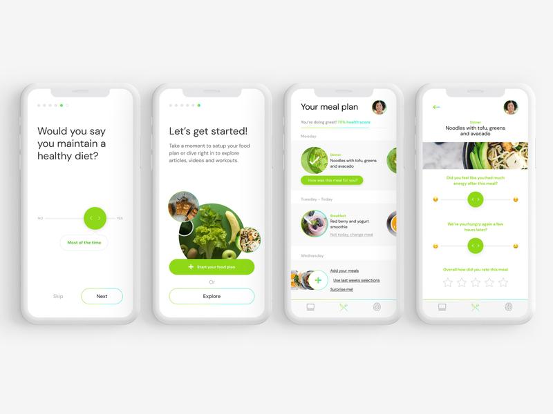 Healthy Lifestyle Food App change minimal ux ui feedback clean medical food