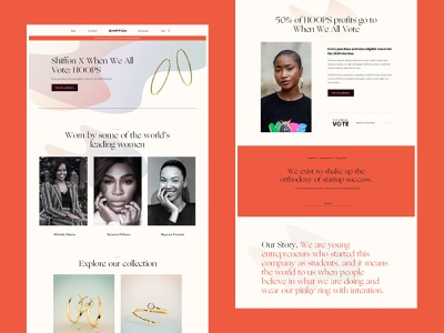 Ecommerce Campaign colour serif brand website minimal layout