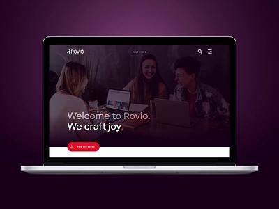 Rovio dot com branding birds video product design reaktor ux layout brand ui