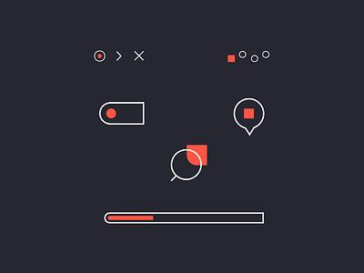 Hicons! location face loading shape square search ui fun stroke white orange icon