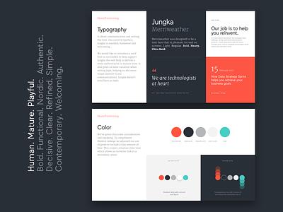 Brand presentation ui sans serif colour type brand