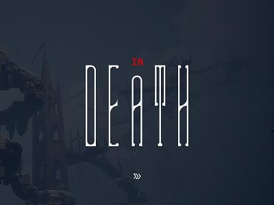 Game Logo font death typography type game logo