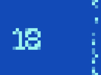 18 type 18 personal game 8bit blue concept pixel brand