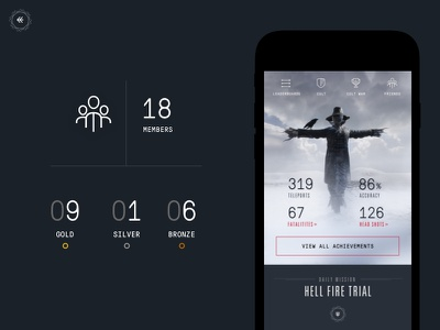 Game Stats Concept brand concept layout vr icon numbers monosans dailyui game dark type