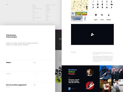 Portfolio Update 2019 logo typography website type minimal ux layout brand ui