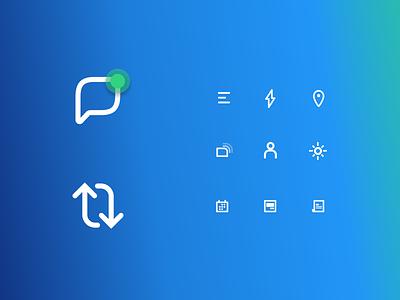 Icons gradient icons ui brand
