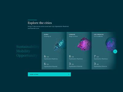 Atlas webgl world iot smart city minimal type ux layout brand ui