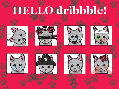 Catdribbble design twitch emote dribbble debut