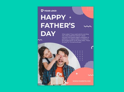 Happy Father's Day Modern flyer design