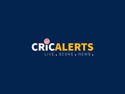 Cricket Alerts Logo vector illustration cricket logo cricket logo illustrator vector ui design mobile ui mobile app design mobile app app design uiux ui design app product design