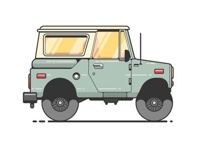 Scout 66 vehicle car farm pick up adventure mobile 66 scout illustration truck