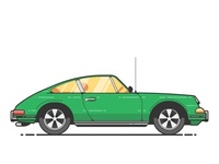 Double dribbble Green Porsche