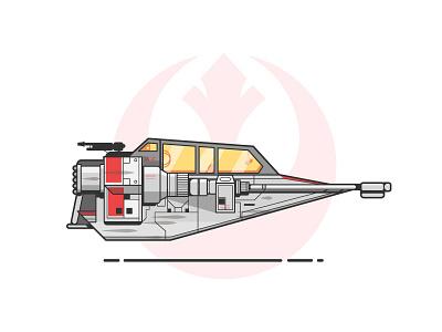 Snow Speeder rebel ship space snow speeder speeder snow star wars