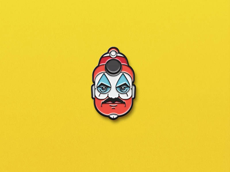 John Wayne Gacy, The Killer Clown serial killer serial pin clown murder killer illustration head face